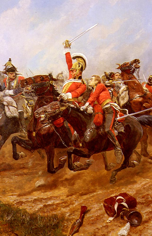 Life Guards Charging at the Battle | Richard Caton Woodville | oil painting