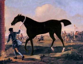 The Duke Of Rutlands Bonny Black Held By A Groo | John Wootton | oil painting