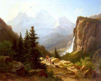 Lauterbrunnental | Joseph Zelger | oil painting