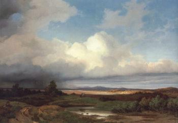 Isarlandschaft bei Gewitter | Albert Zimmerman | oil painting