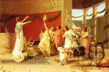 A Roman Dance | Guglielmo Zoochi | oil painting