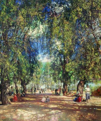 Alley in the Park | Isaak Brodsky | oil painting