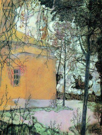 Church | Isaak Brodsky | oil painting