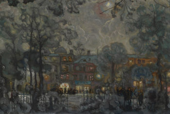 City at Night 2 | Isaak Brodsky | oil painting