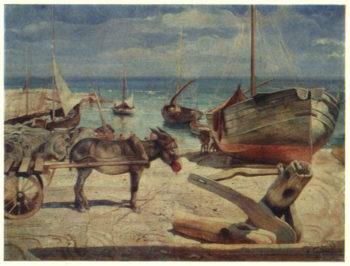 Donkey on Capri | Isaak Brodsky | oil painting