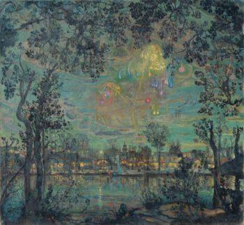 Fireworks | Isaak Brodsky | oil painting