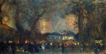 Fireworksv | Isaak Brodsky | oil painting