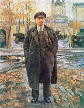 Vladimir Lenin near Smolny | Isaak Brodsky | oil painting