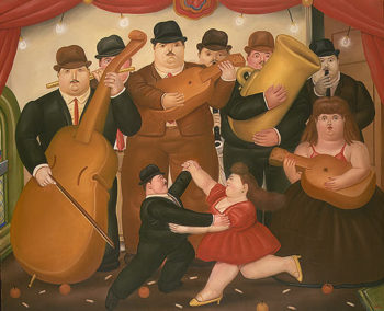 Dancing in Columbia | Fernando Botero | oil painting