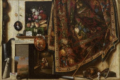 Trompe loeil A Cabinet in the Artists Studio | Cornelius Norbertus Gijsbrechts | oil painting