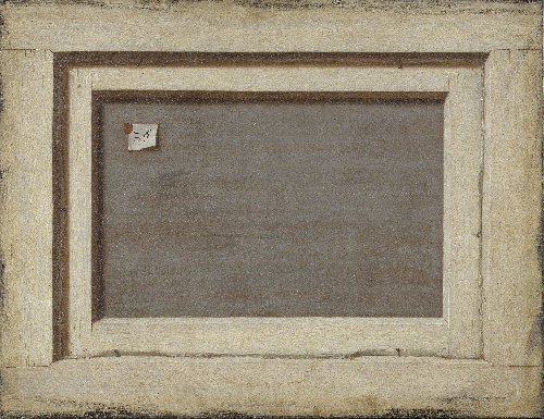 Trompe loeil The Reverse of a Framed Painting | Cornelius Norbertus Gijsbrechts | oil painting