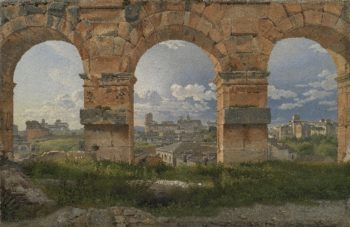 A View through Three Arches of the Third Storey of the Colosseum | CW Eckersberg | oil painting