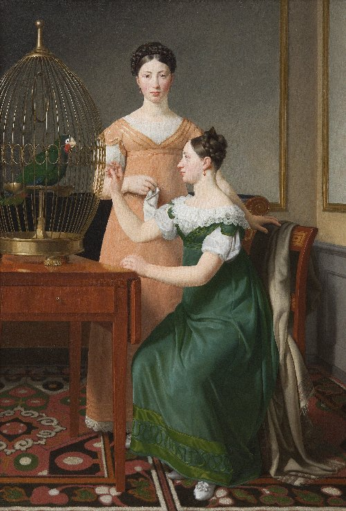 Mendel Levin Nathansons Elder Daughters Bella and Hanna | CW Eckersberg | oil painting