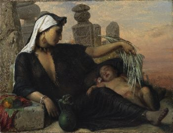 An Egyptian Fellah Woman with her Baby | Elisabeth Jerichau Baumann | oil painting