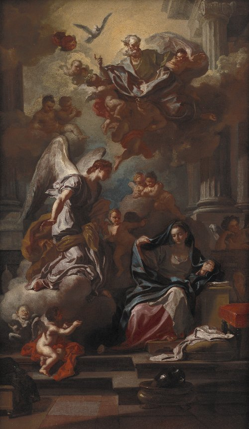 The Annunciation | Francesco Solimena | oil painting