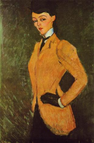The Amazon aka Woman in a Yellow Jacket | Amedeo Modigliani | oil painting