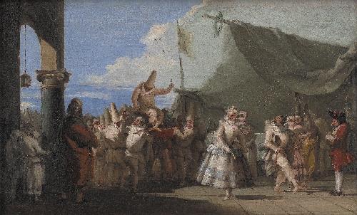 The Triumph of Pulcinella | Giovanni Domenico Tiepolo | oil painting