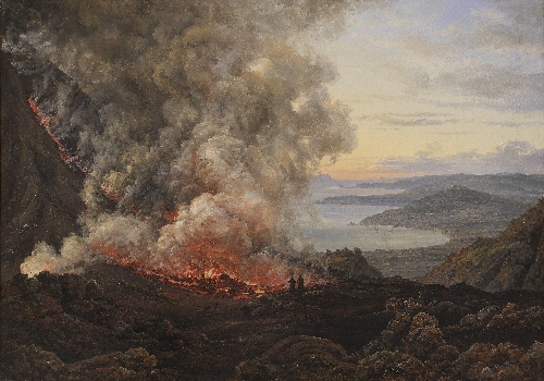 Eruption of the Volcano Vesuvius 1821 | JC Dahl | oil painting