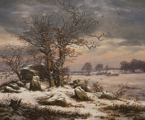 Winter landscape Near Vordingborg | JC Dahl | oil painting
