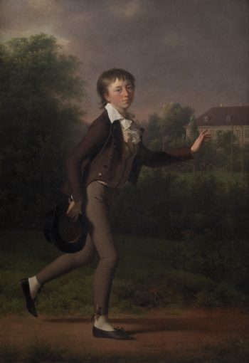 A Running Boy Marcus Holst von Schmidten | Jen Juels | oil painting