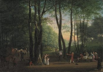 The Dancing Glade at Sorgenfri North of Copenhagen | Jens Juel | oil painting