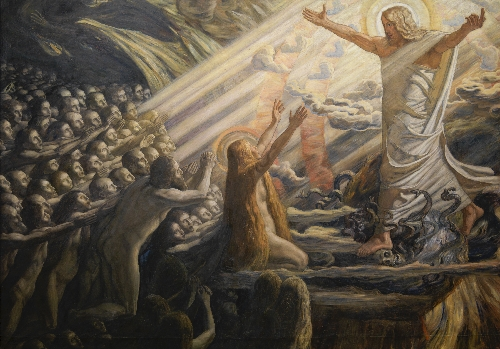 Christ in the Realm of the Dead | Joakim Skovgaard | oil painting