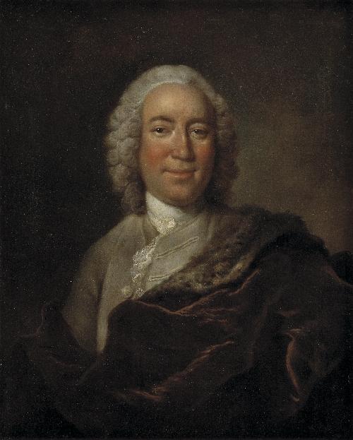 Gerhard Morell Keeper of the Royal Danish Kunstkammer   Johann Salomon Wahl   oil painting