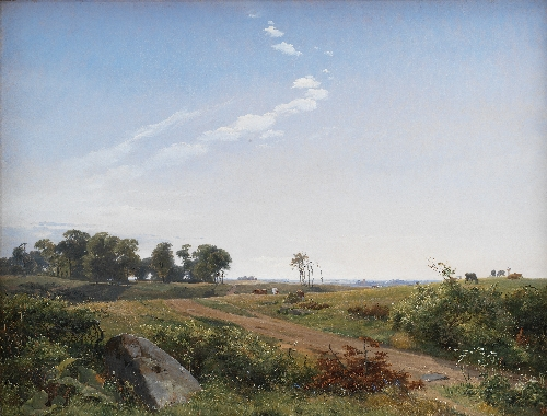 Zealand Landscape Open Country in North Zealand | Johan Thomas Lundbye | oil painting