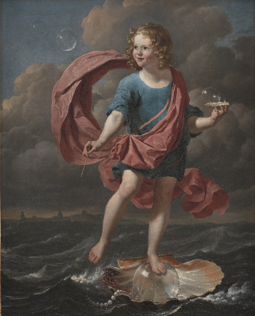 Boy Blowing Soap Bubbles Allegory on the Transitoriness and the Brevity of Life | Karel Dujardin | oil painting