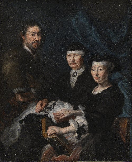 The Artist with his Family | Karel van Mander III | oil painting