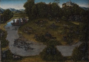 The Stag Hunt of the Elector Frederic the Wise (1463 1525) of Saxony | Lucas Cranach the elder | oil painting