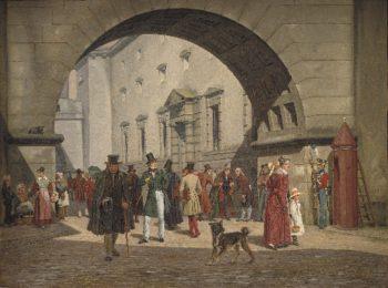 The Prison of Copenhagen   Martinus Rorbye   oil painting