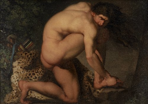 The Wounded Philoctetes | Nicolai Abildgaard | oil painting