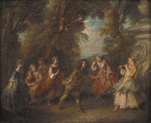 Children at Play in the Open | Nicolas Lancret | oil painting
