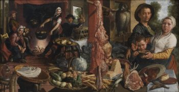 The Fat Kitchen An Allegory | Pieter Aertsen | oil painting