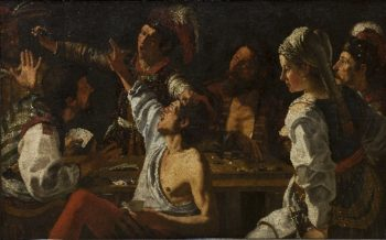Card and Backgammon Players Fight over Cards | Theodoor Rombouts | oil painting