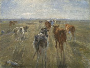 Long Shadows Cattle on the Island of Saltholm | Theodor Philipsen | oil painting