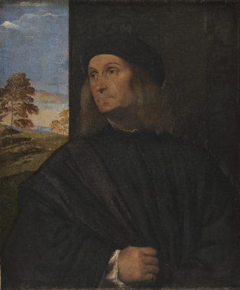 Portrait of the Venetian Painter Giovanni Bellini | Tizian | oil painting