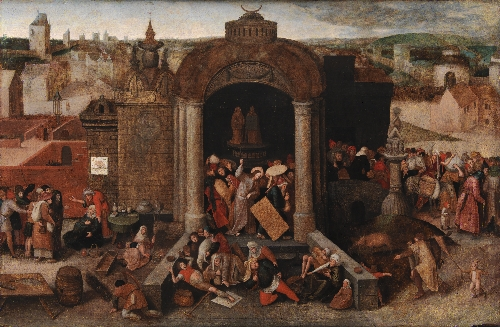 Christ Driving the Traders from the Temple | Unknown artist | oil painting