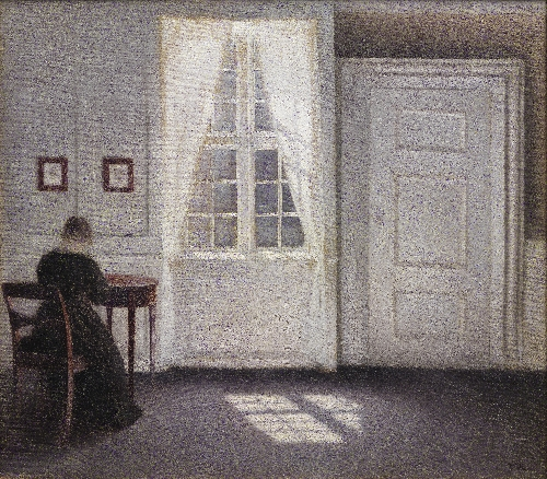 A Room in the Artists Home in Strandgade Copenhagen with the Artists Wife | Vilhelm Hammershoi | oil painting