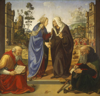 The Visitation with Saint Nicholas and Saint Anthony Abbot
