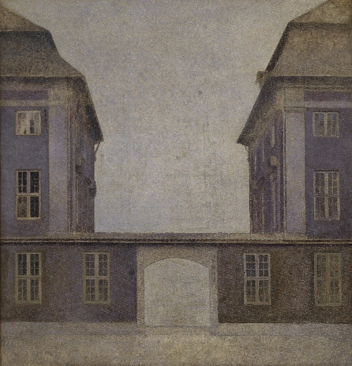 The Buildings of the Asiatic Company seen from St Annae Street | Vilhelm Hammershoi | oil painting