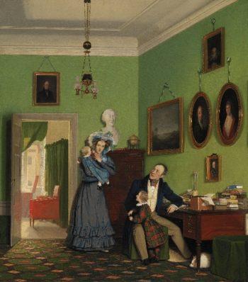 The Waagepetersen Family | Wilhelm Bendz | oil painting