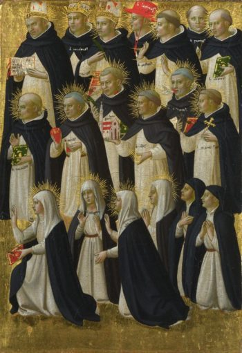 The Dominican Blessed (1) | Fra Angelico | oil painting