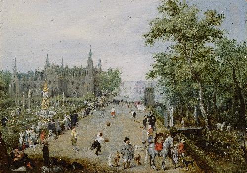 A Jeu de Paume Before a Country Palace | Adriaen van de Venne | oil painting