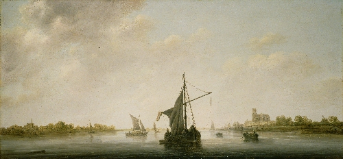 A View of the Maas at Dordrecht | Aelbert Cuyp | oil painting