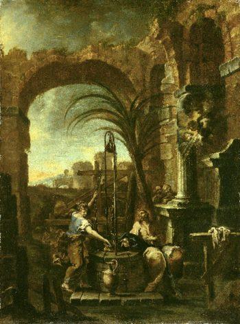 Christ and the Samaritan Woman   Alessandro Magnasco   oil painting