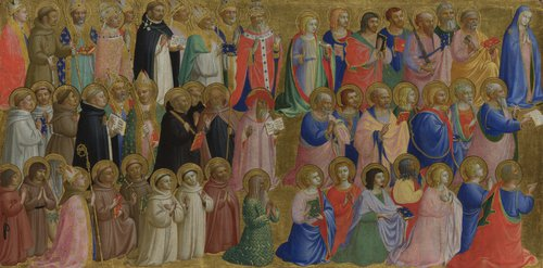 The Virgin Mary with the Apostles and Other Saints | Fra Angelico | oil painting
