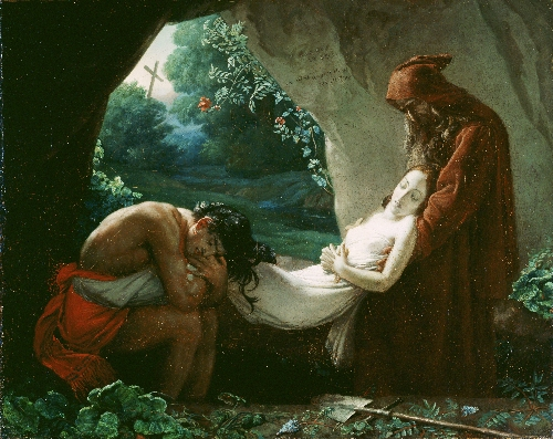Burial of Atala   Anne Louis Girodet de Roucy Trioson   oil painting