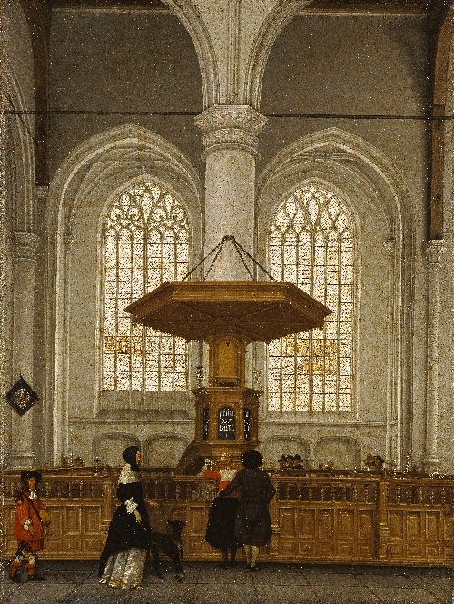Interior of the Laurenskerk at Rotterdam | Anthonie De Lorme | oil painting